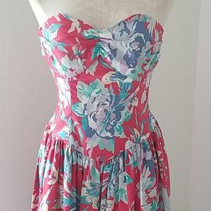 Vintage Laura Ashley strapless dress